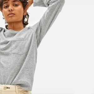 Everlane | Heather Grey Long Sleeve Pocket…